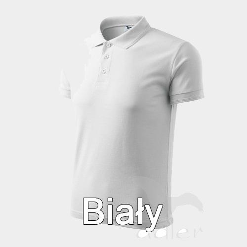 biała koszulka polo